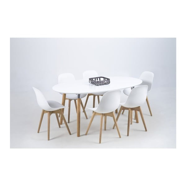 Bílá jídelní židle Actona Scramble