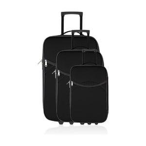 Set 3 cestovních kufrů Classic Black