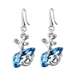 Náušnice s modrými krystaly Swarovski Elements Crystals Forest