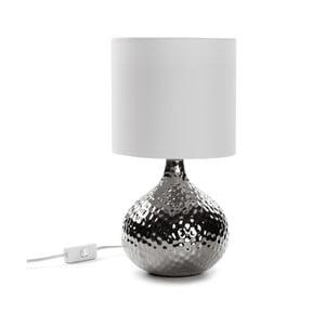 Stříbrná stolní lampa Versa Metal