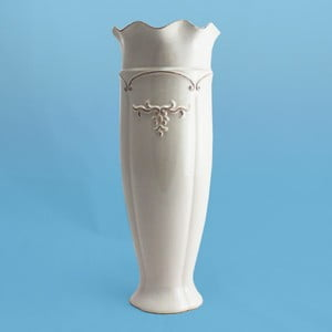Váza Antik I, přírodní bílá