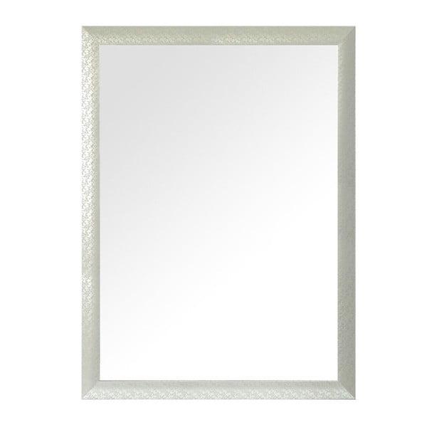 Nástěnné zrcadlo Floral, stříbrný rám