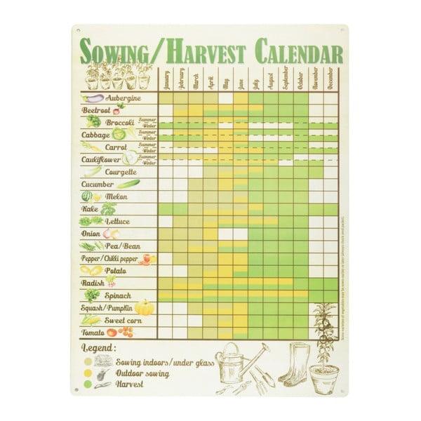 Cedulka Esschert Design Kalendář sklizně