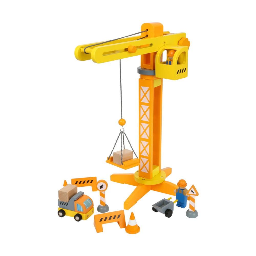 Dětský dřevěný stavební jeřáb Legler Construction