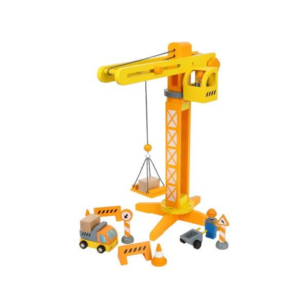 Construction játékdaru fából - Legler
