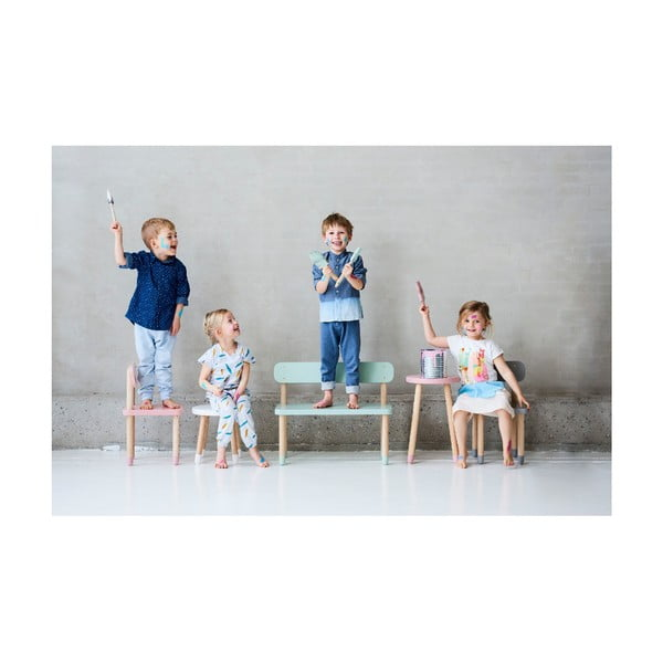 Bílá dětská stolička Flexa Play, ø 30 cm