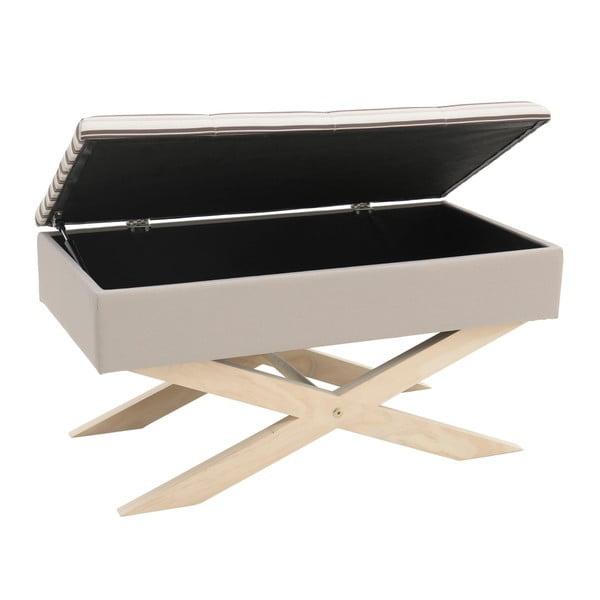 Béžová lavice s úložným prostorem InArt Zaballa