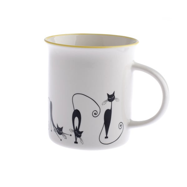 Kubek porcelanowy Dakls Cats Andie, 310 ml
