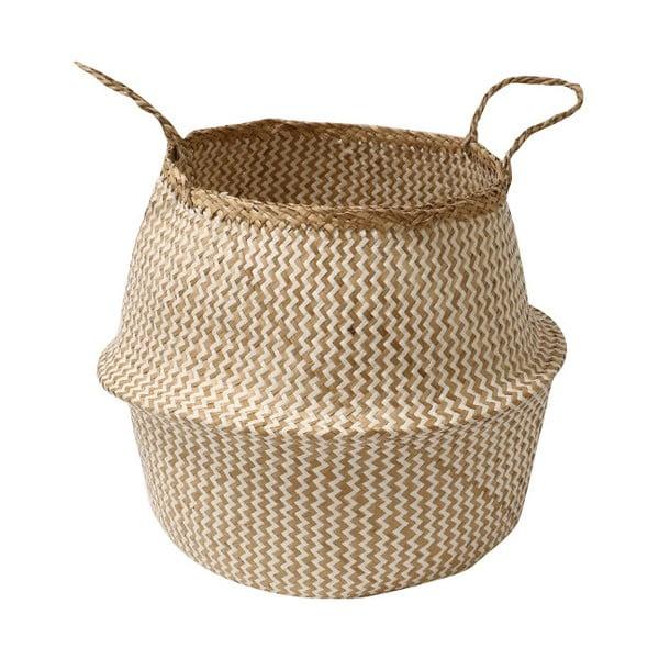 Coș pentru depozitare din iarbă de mare Compactor Zic Zac, ⌀ 35 cm