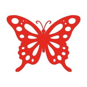 Červená kovová nástěnná dekorace Butterfly