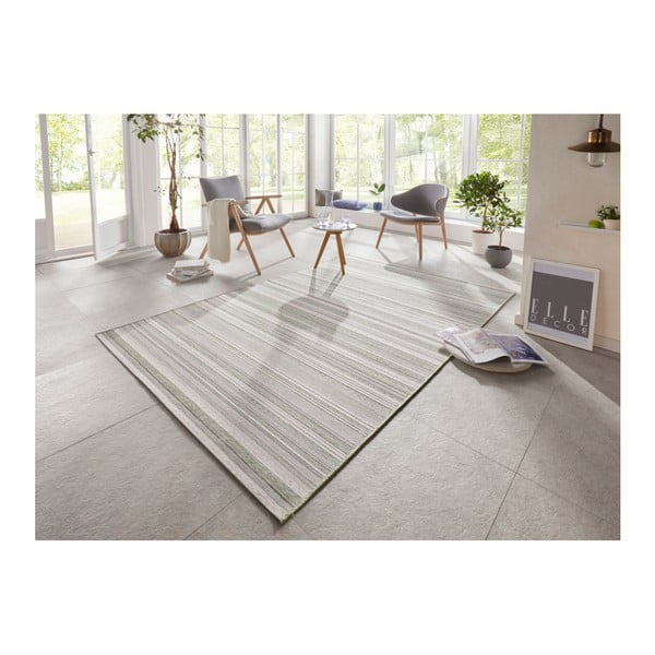 Zelený koberec vhodný i na ven Elle Decor Secret Calais, 140 x 200 cm