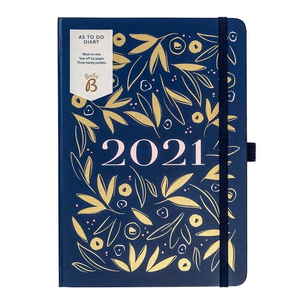 Niebieski kalendarz tygodniowy A5 Busy B, 160 stron