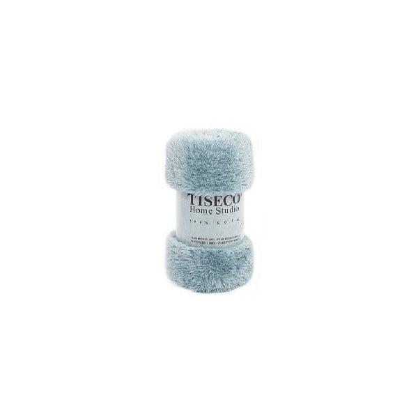 Niebieski koc Tiseco Home Studio Fluffy, 150x200 cm