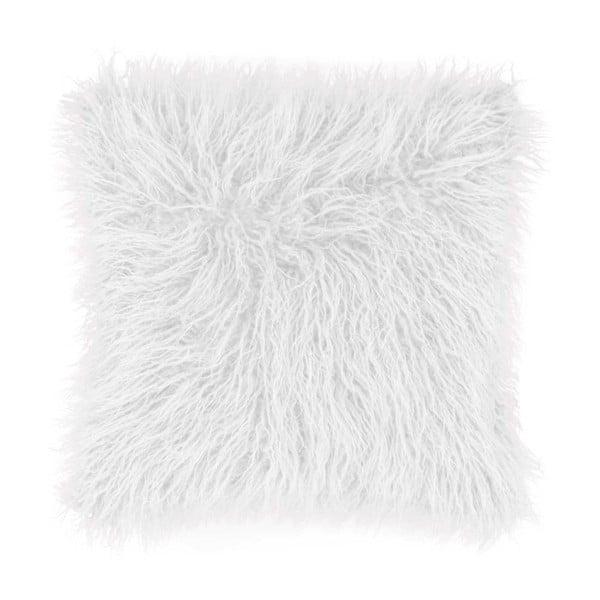 Mohair fehér díszpárna, 45x45cm - Tiseco Home Studio