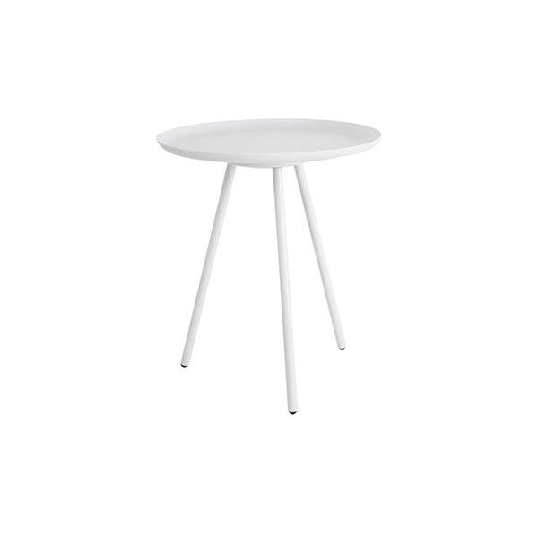 Bílý odkládací stolek White Label Frost