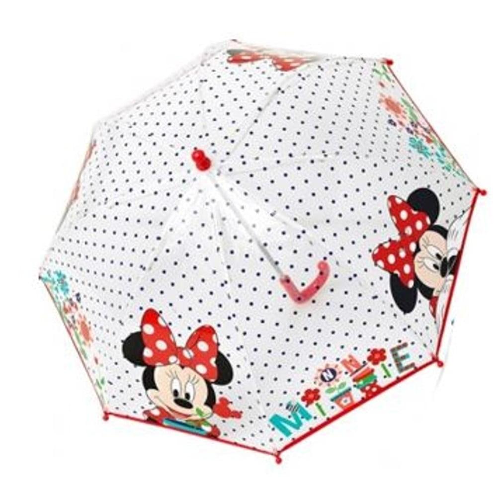 Dětský transparentní deštník Minnie