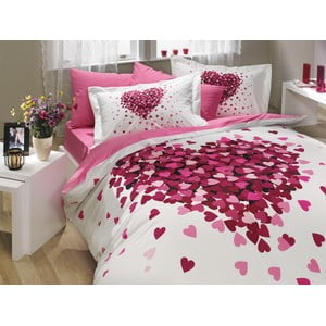 Lenjerie de pat cu cearșaf Juana Lilac, 200x220cm