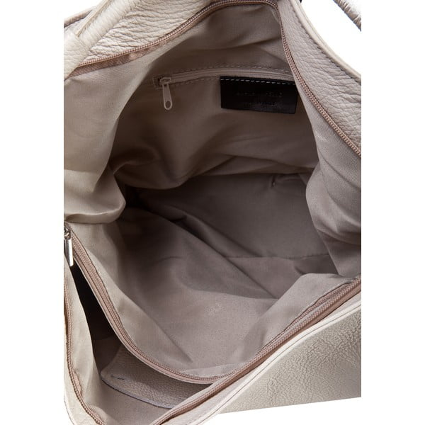 Světle béžová kožená kabelka Massimo Castelli Norvala