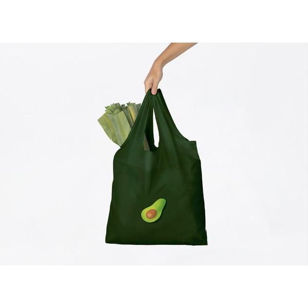 Czarna torba na zakupy DOIY Avocado