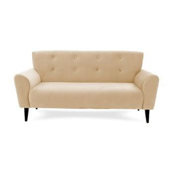 Canapea cu 3 locuri Vivonita Kiara, maro fistic de la Vivonita