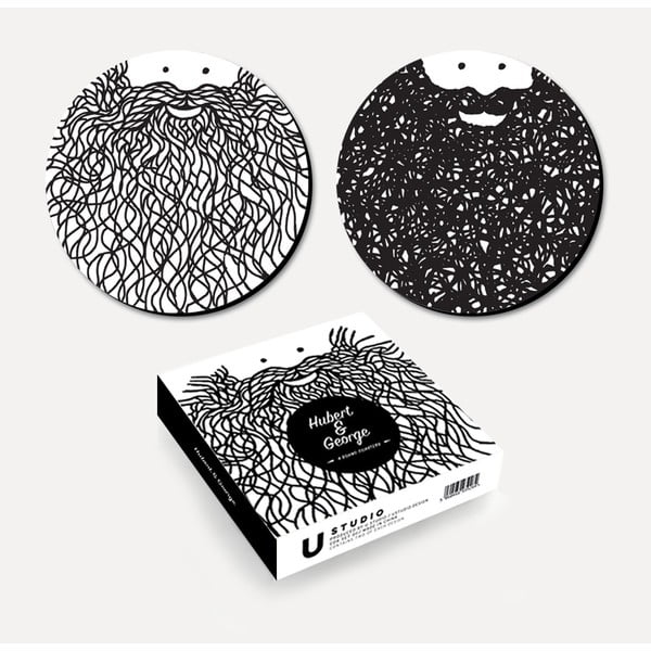 Zestaw 2 podkładek korkowych U Studio Design Hubert & George