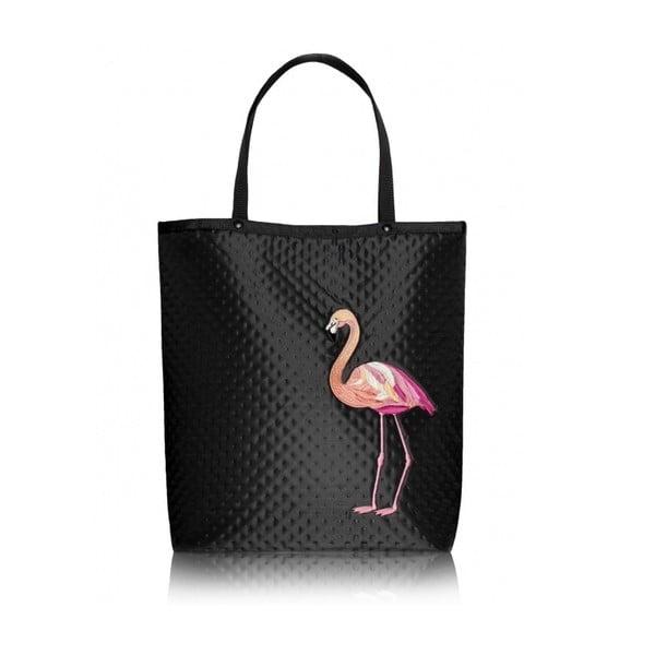 Taška Shopper Bag Plameňák, černá