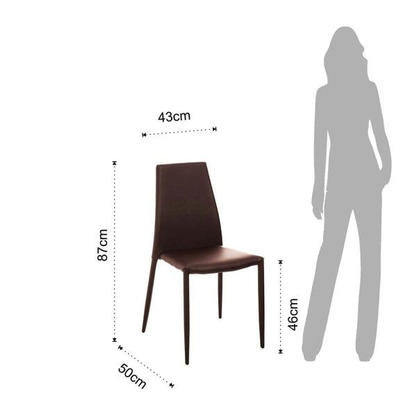 Sada 4 hnědých jídelních židlí s potahem z ekologické kůže Tomasucci Lion