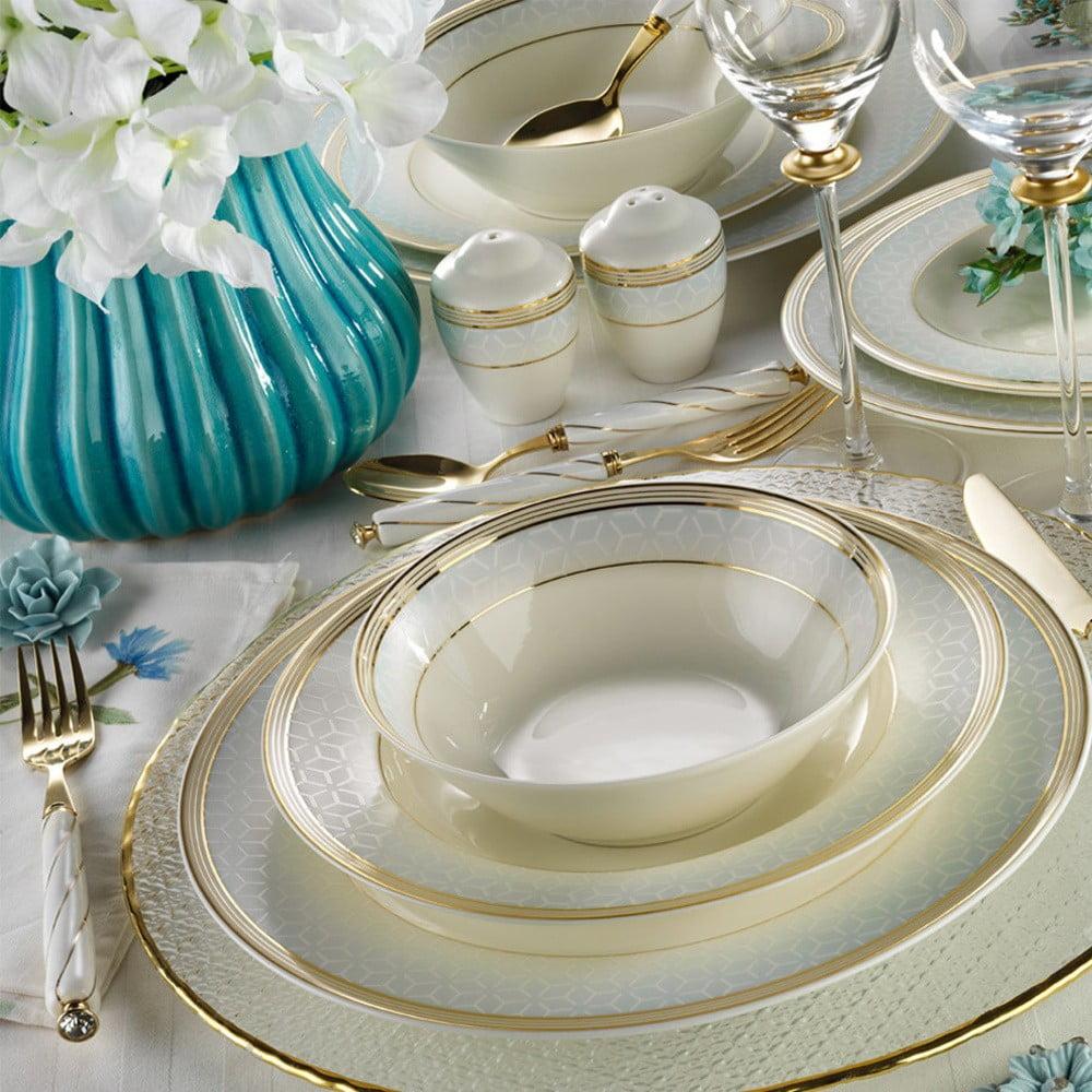 28dílná sada nádobí z porcelánu Kutahya Kristen