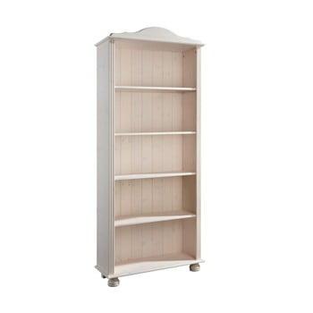 Bibliotecă din lemn de pin Støraa Ella, alb
