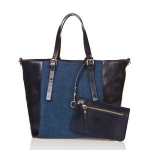 Kožená kabelka Luna, modrá