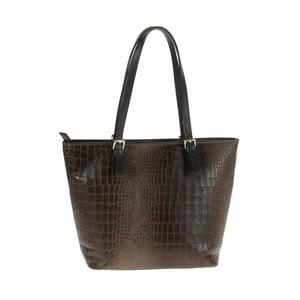 Tmavě hnědá kožená kabelka Tina Panicucci Classo