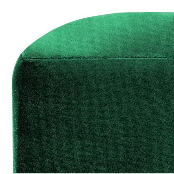 Smaragdově zelený puf Vivonita Gisele