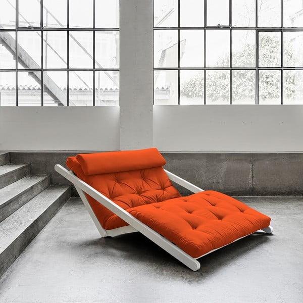 Fotoliu Karup Figo, White/Orange, 120 cm