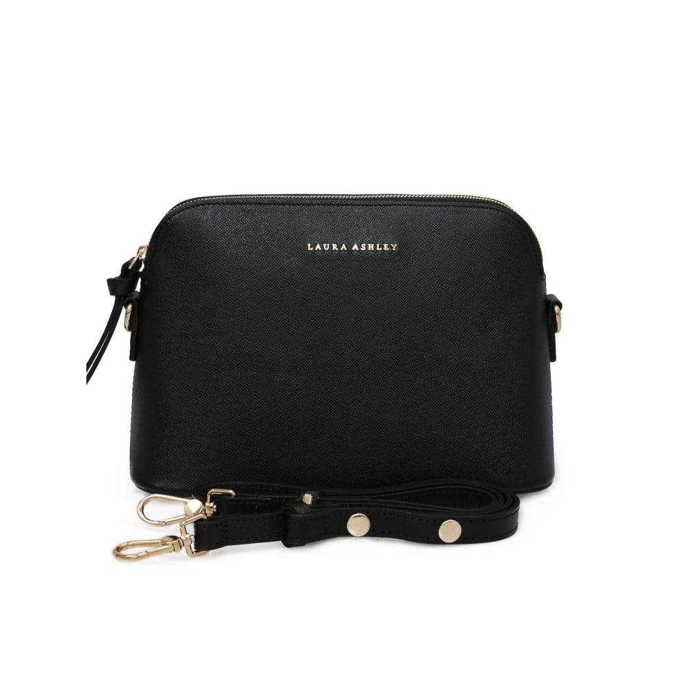 Černá kožená kabelka Laura Ashley Eglinton