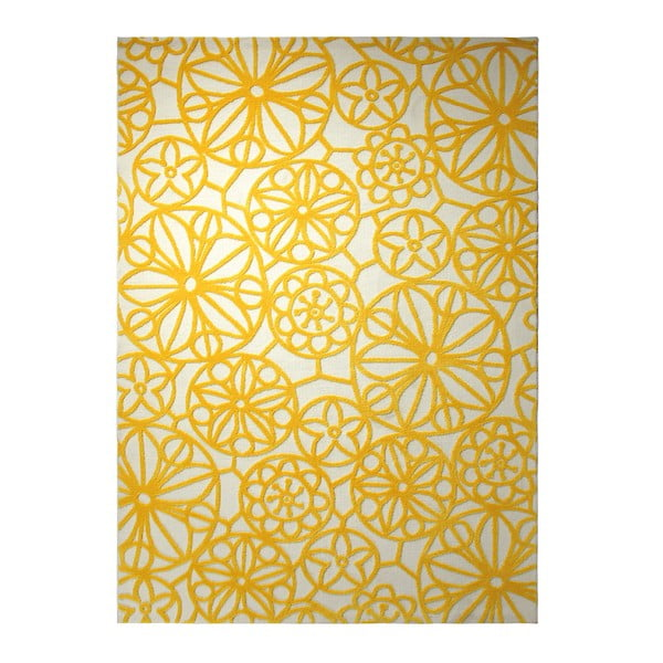 Koberec Society Circle Yellow 160x230 cm
