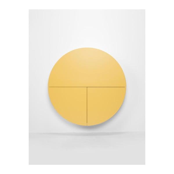 Masă multifuncțională de perete Pill EMKO, negru - galben