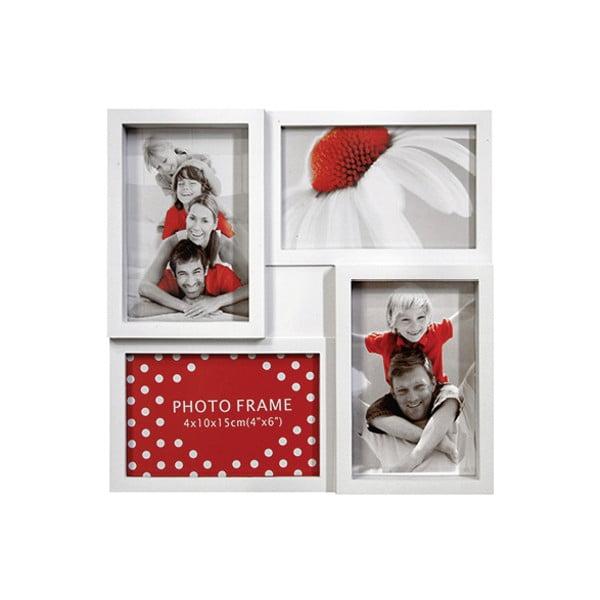 Bílý fotorámeček na čtyři fotky