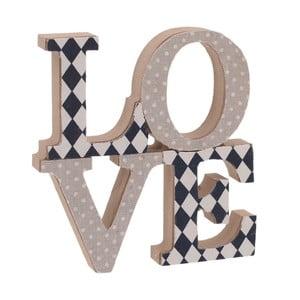 Dekorativní dřevěný nápis na stěnu InArt Love