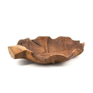 Podnos z teakového dřeva ve tvaru listu Moycor Erosi
