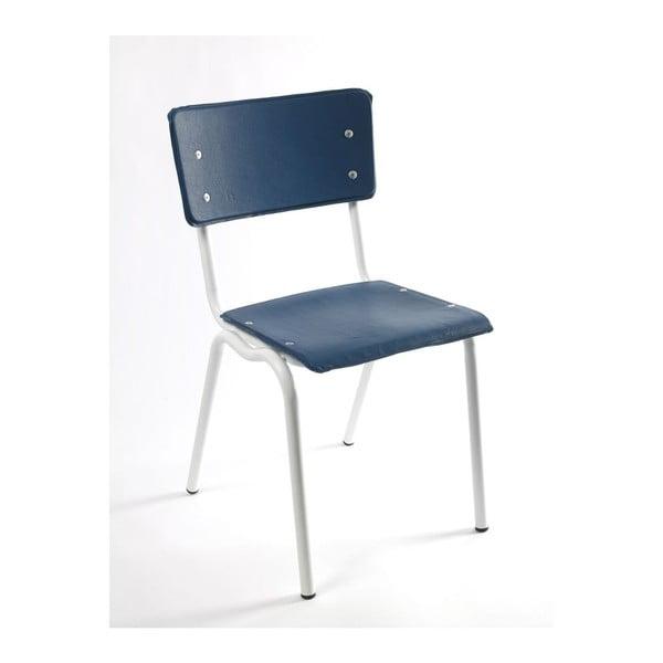 Židle Vinyl-Vinyl, modrá