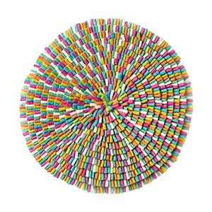 Vlněný koberec Wool Mat Bubble Multicolour, 75 cm