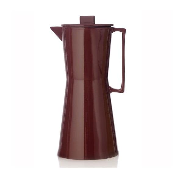 Porcelánová váza ve tvaru moka konvičky Terra Brown