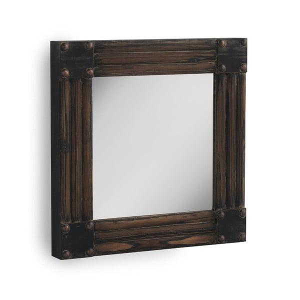 Hnědé nástěnné zrcadlo Geese, 57x57cm