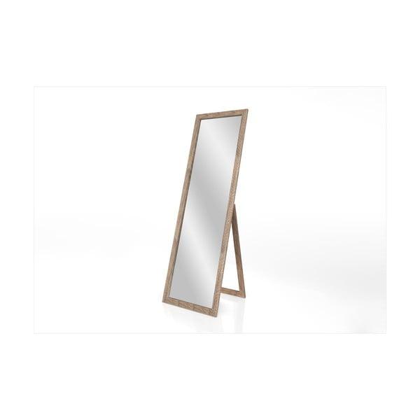 Stojací zrcadlo s hnědým rámem Styler Sicilia