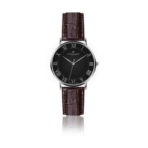 Pánské hodinky s hnědým páskem z pravé kůže Frederic Graff Silver Dom Croco Brown Leather