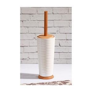 Toaletní kartáč z bambusu v porcelánovém stojanu Confetti Bathmats Remedy
