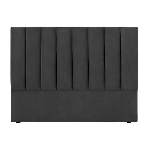 Tmavě šedé čelo postele Cosmopolitan Design Los Angeles, šířka 160cm