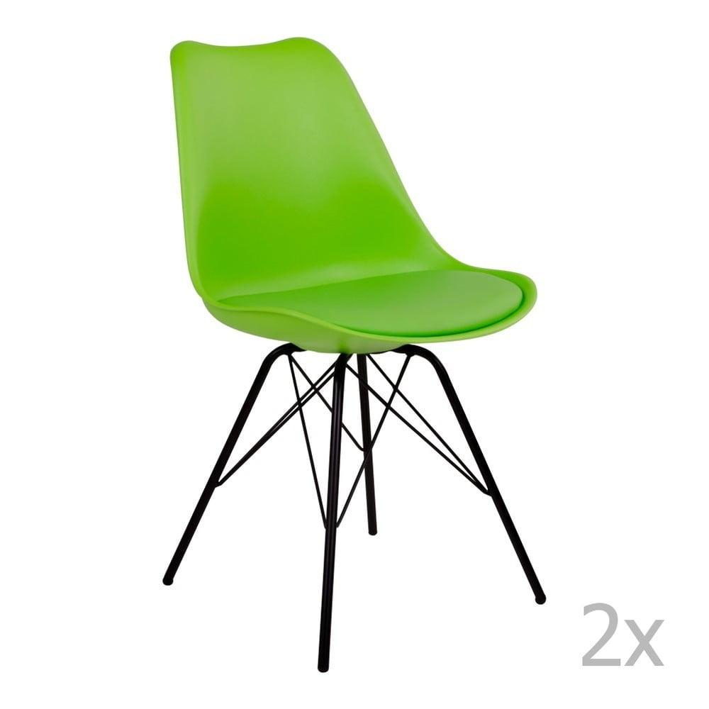 Produktové foto Sada 2 zelených židlí House Nordic Oslo