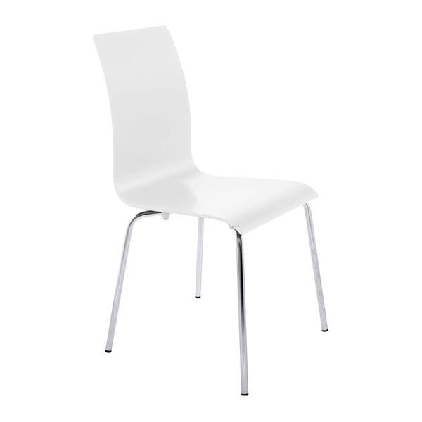 Biela jedálenská stolička Kokoon Classic