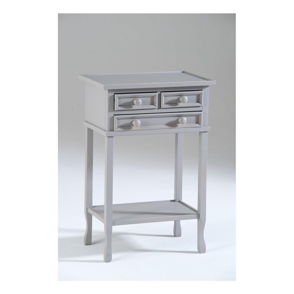 Šedý dřevěný odkládací stolek Castagnetti Eloise